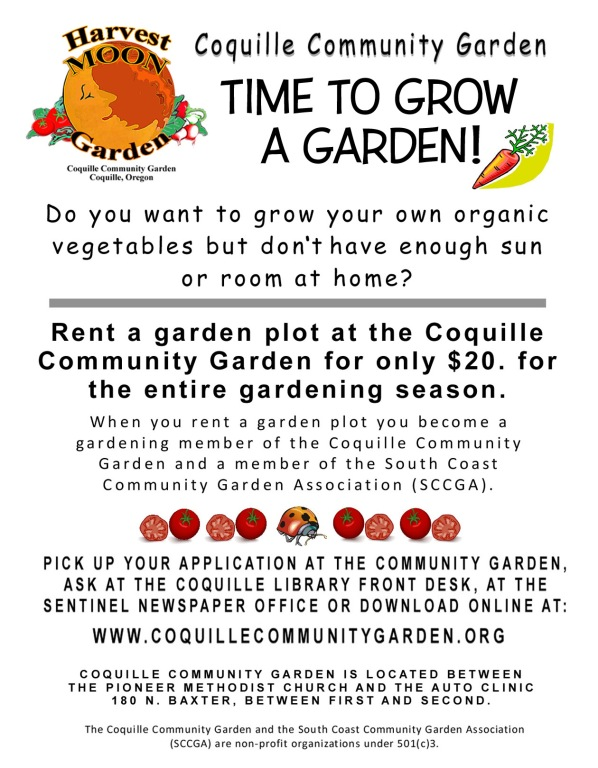 Flyer for Coquille Rental Bed 2017